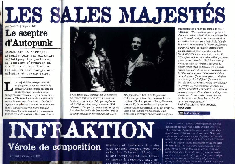 Les Sales Majestés - Article